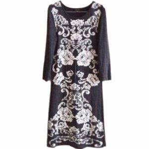 Spense Dark Gray Fitted Sweater Dress M